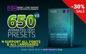 Y037.Premiere650款文字标题字幕排版动画 让你作品更有逼格!