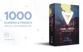 Y038.PR模板-1000组视频特效元素抖音风格时尚包装设计预设