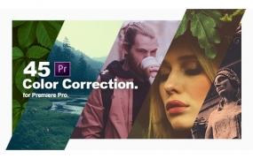 Y041.Premiere预设:45组个性化自然黑白复古视频调色预设 Color Grading Presets